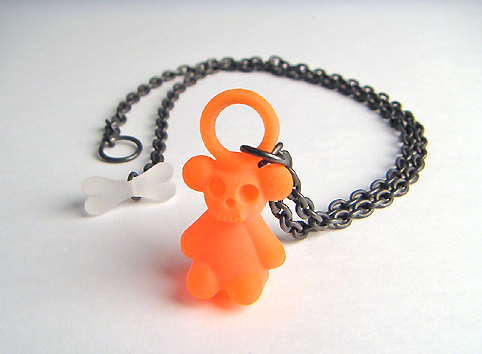 skull teddy pendant by jun konishi :  jewellery skulls design jewelry